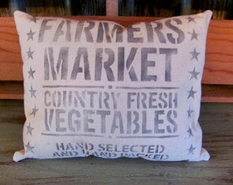 Black Farmers Market Mini Pillow
