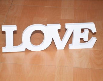 White LOVE Decor Letters