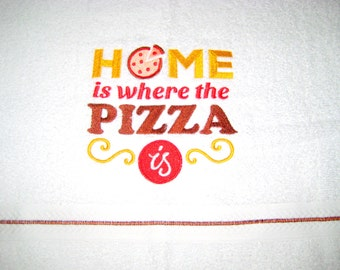 Home Is Where The Pizza Is Hand Towel