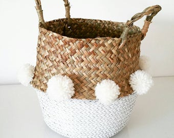 Basket White boho