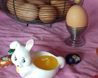 Vintage egg Cup with candle