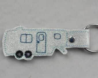Fifth Wheel Trailer Keychain Key Fob