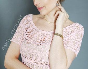 "Crochet Lace Summer Woman Dress ""Honey"" Instant Download Crochet Pattern detailed tutorial"