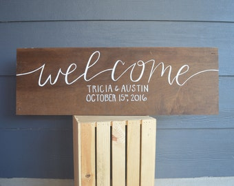 Welcome Wedding Date Sign
