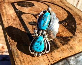 Vintage southwestern turquoise silver ring - SOLD