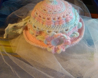 Crocheted baby hat 1 size 0-12 month