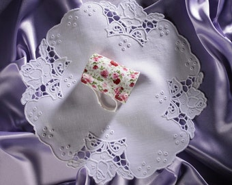 Richelieu Embroidery | pure linen | cutwork linen | napkin | roses |  handmade | white work | broderie | white embroidery | tablecloth