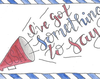 I've Got Something to Say - 10 Postcards