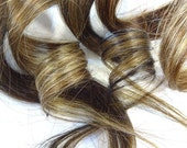 "Set of FOUR 18"" Clip-In Human Hair Streaks, Walnut"