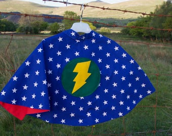 Superhero cape - blue stars