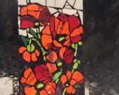 Mosaic on Glass Poppies