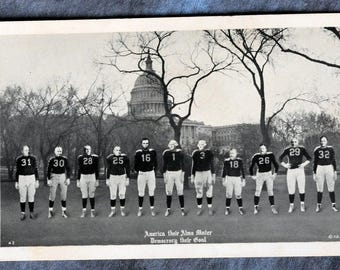 America Their Alma Mater Democracy their Goal Presidents B/W Postcard