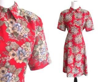 Vintage 1940's Style 90's Swing Dress - Size Large
