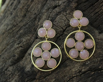 Pink Balls Earrings