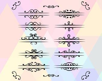 Split Frame SVG File | Split Frame File | Split Frame Dxf | Split Frame Cut File | Split Frame Cricut | Frame Eps | Invitation Frame Svg