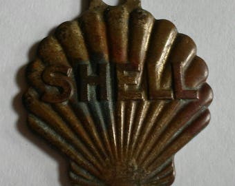 Shell Oil Gas Station Key Chain