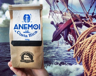 ANEMOI coffee a sailing ship