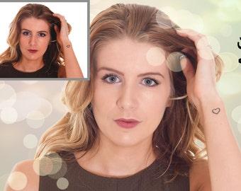 Bokeh effect photo editing, photo retouching, background replacement