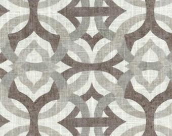 Premium Fabric- Gray/Brown Pattern, curtain or roman shade