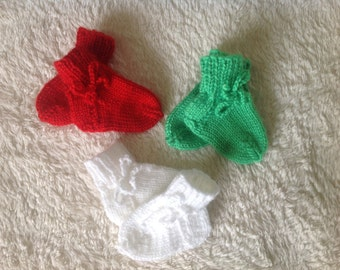 First socks, baby socks