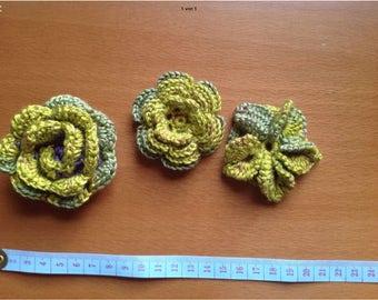 Crochet flower flower handmade