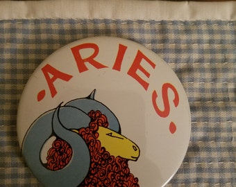 Armour Vintage Aries Button Pin