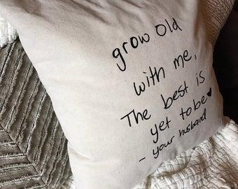 Custom Handwriting Pillow Cover, Custom Pillow Cover, Handwriting Pillow Cover, Personalized Pillow Cover, Throw Pillow Cover