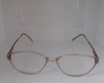 Vintage 1980's Spectacles Sorbet Pink Lemonade Lustre Frames/Glasses