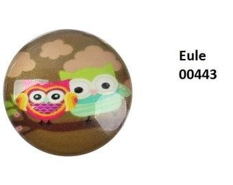 10 cabochons-10 mm glass glass cabochon motif OWL OWL cabochons