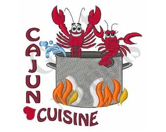 Cajun Crawfish - Machine Embroidery Design