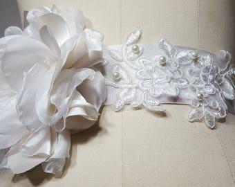 vintage style wedding blet &Sash
