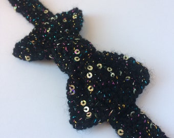 sequinned bow ties