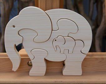 Wood Puzzle 3D elephant