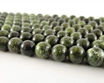 10 mm serpentine stone natural serpentine beads 10 mm serpentine gemstone stone green bead gemstone round bead beads for handmade stone bead