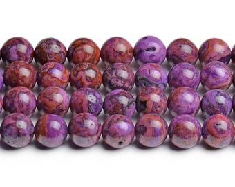 8mm purple crazy lace agate purple crazy agate 8mm purple agate 8mm purple stones pattern gemstone crazy agate beads 8mm purple beads strand