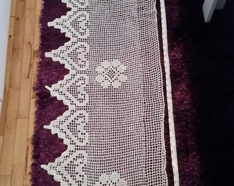 Crochet Table Runner, Hand Crochet Table Runner, Crochet Table Cloth, Crochet Tablecloth, Hand Knitted Tablecloth, Knit Tablecloth