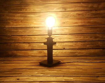 Industrial lamp with LED Edison bulb - lighting, vintage, lights, industrial, steampunk, unique, recycling, loft, upcycling
