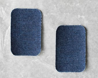 Iron on Knee Patches (Set of 2) Denim Fabric
