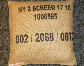 "Coffee bag cover, cushion ""NY 2 SCREEN"", 40 x 40 cm"