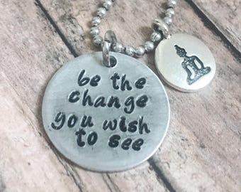 Stamped necklace for her -Personalized necklace for women -Hand stamped necklace for sister -Custom necklace for her - Stamped jewelry