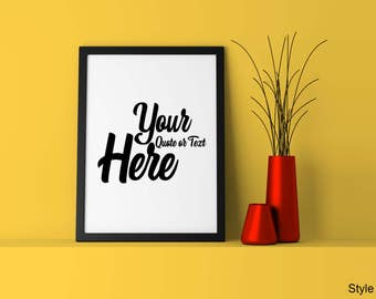 Personalised Quote Poster - Any Inspirational Motivational Funny Quotation Message on a Wall Art Print - Your Saying on a Picture