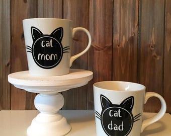 Cat Mom and Cat Dad Mug