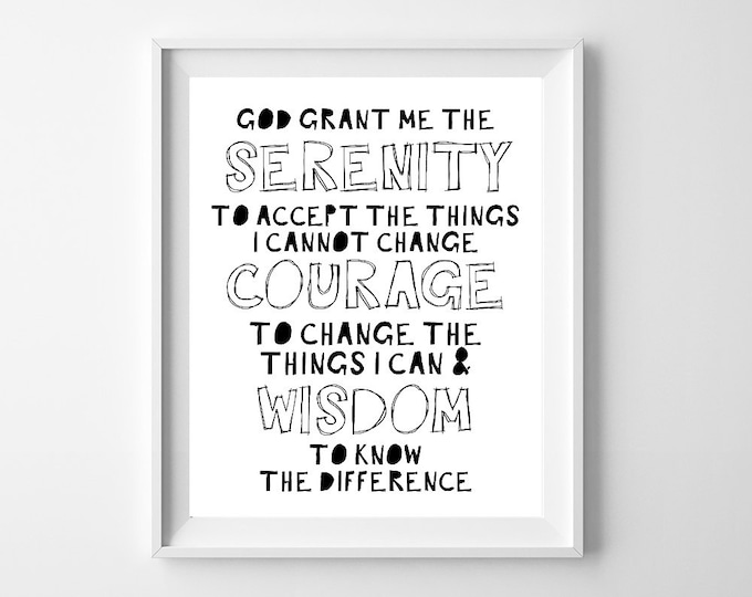 Serenity Prayer, God Grant Me, Bible Journaling, Bible Verse Sign, Bible Study Tools, Addiction Recovery, Recovery, Graphic Teen, Serenity