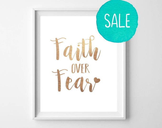 Faith Over Fear, Get 3 Colors! Faith Quotes, Religious Quotes, Printable Quotes, Faith Quotes, Home Decor, Wall Art, Motivational Quotes