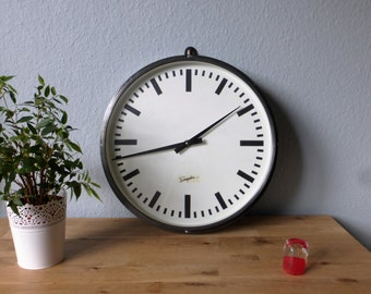 Clock industrial steel Simplex graphitée