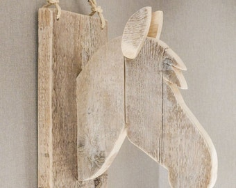 Wooden Horse Wall Decoration
