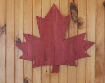 Wooden Maple Leaf for on your wall
