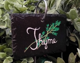 Thyme Slate Herb Garden Marker - Stake Included
