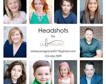 Headshot / Portrait PSD Marketing Template - CLEAN Collection