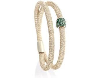 Emerald on Ice Gold Eccellenté Duo Bracelet